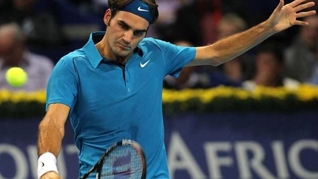 Roger Federer na turnaji v Basileji.