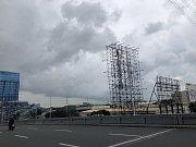 První projevy tajfunu Mangkhut ve filipínské Manile