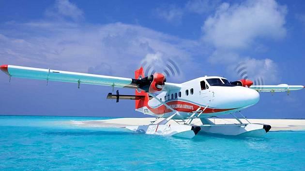 Letadlo DHC-6 společnosti Trans Maldivian Airways