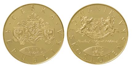 Unikátní mince ku příležitosti 100.výročí vzniku Československa.