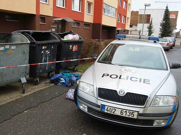 V neděli ráno našli v Podbořanech v ulici Kpt. Nálepky mrtvé novorozeně v popelnici.