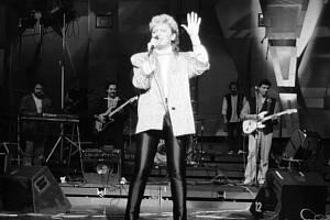 Zpěvačka Petra Janů v 80. letech.