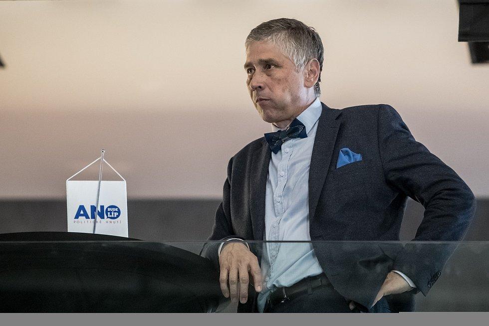 Sledování výsledků parlamentních voleb ve štábu ANO, 21. října v Praze. Ivo Vondrák