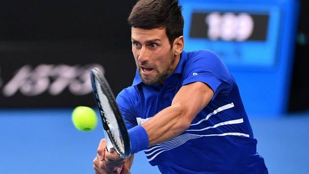 Novak Djokovič během finále Australian Open