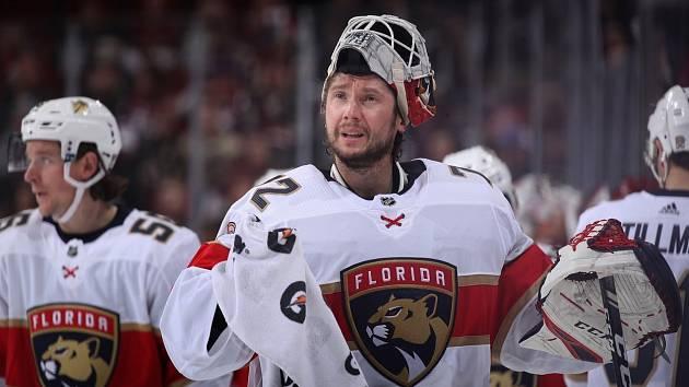 Brankář Floridy Panthers Sergej Bobrovskij.