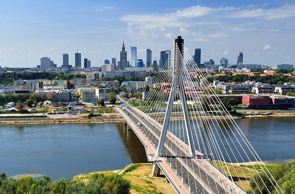 Varšava - pohled z ptačí perspektivy.