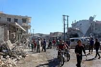 Následky bombardování, Sýrie