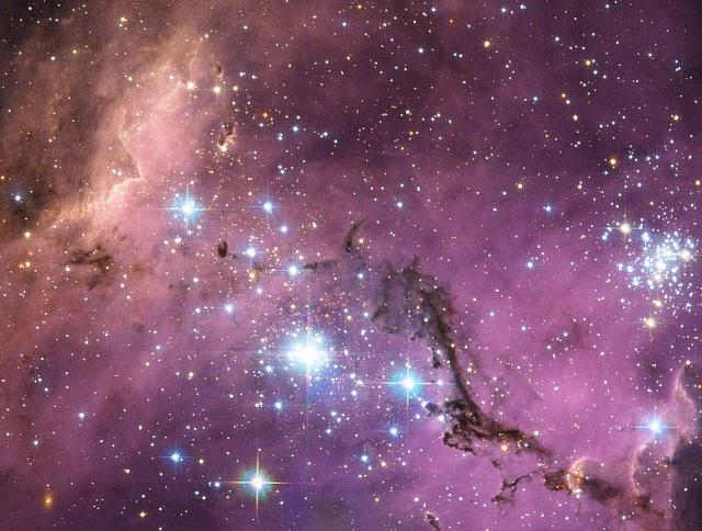 Velký Magellanův oblak zachycený Hubbleovým vesmírným dalekohledem.