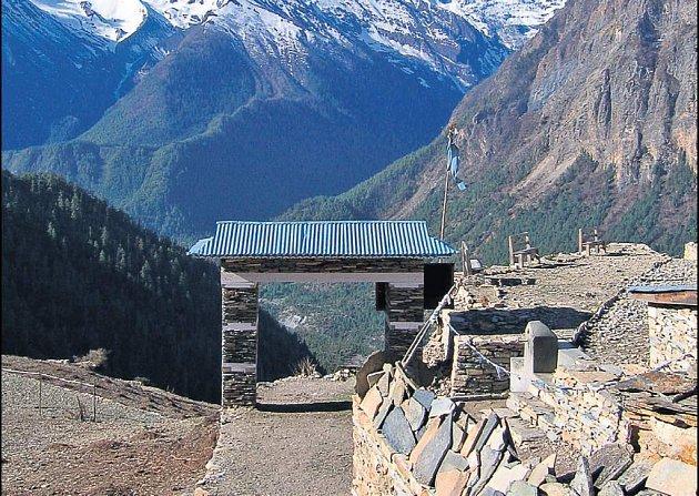 Tak takhle vypadá výhled na Annapurnu