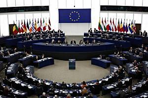 Zasedání Evropského parlamentu ve Štrasburku. Ilustrační snímek