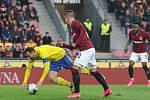 Fotbalisté Zlína (žluté dresy) se ve 23. kole FORTUNA:LIGY utkali proti Spartě Praha. Foto: pro Deník/Jan Zahnaš