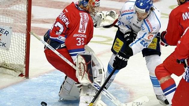 Gólman Jakub Štěpánek tentokrát vítězství nevychytal.