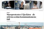 Zpráva švédského deníku Dagens Nyheter