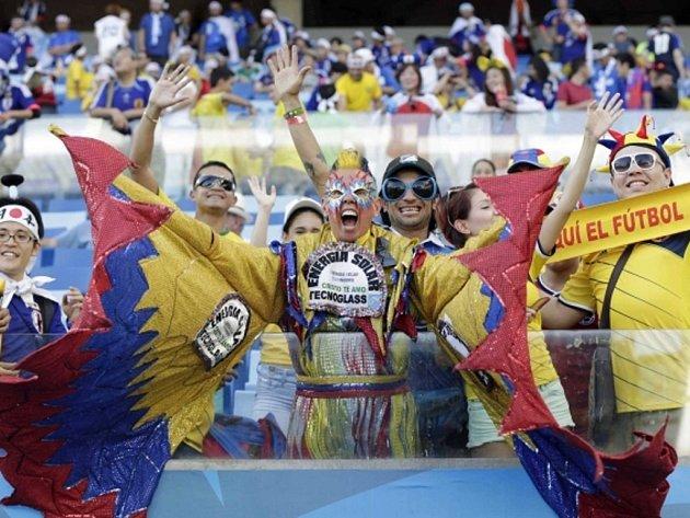 Kolumbijští fanoušci. Ilustrační foto.