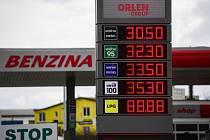 Čerpací stanice Benzina v Praze
