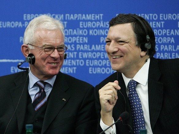 Hans-Gert Pöttering a Jose Manuel Barroso v roce 2007.