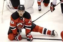 Patrik Eliáš na tréninku New Jersey Devils.