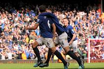 Everton slaví vyrovnávací gól na půdě Liverpoolu