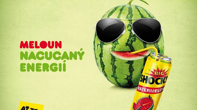 Energetický nápoj BigShock! Watermelon.