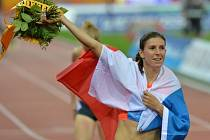 Zuzana Hejnová a její radost z vítězství v Diamantové lize v Curychu