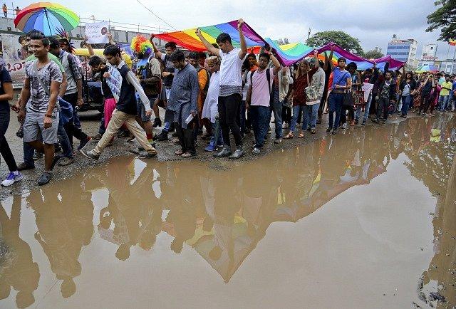 Indické protesty za práva homosexuálů