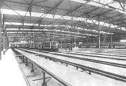 Vozovna Kobylisy v roce 1939