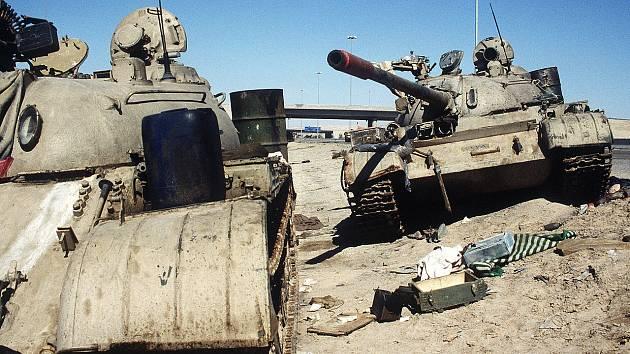 Při obsazení kuvajtského hlavního města narazily koaliční síly mimo jiné na dva opuštěné irácké tanky. Jejich posádky utekly