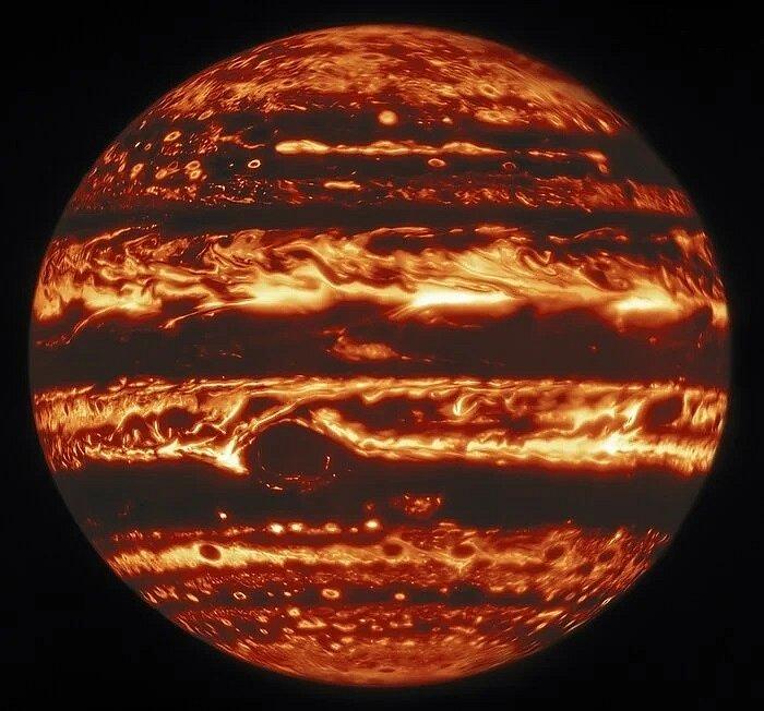 Jupiter v infračerveném záření