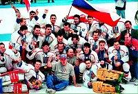 Vítězný tým hokejistů z Nagana.