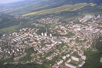 Nový Bor - letecký snímek