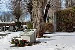 Hrob 34 obětí pochodu smrti vHajnici