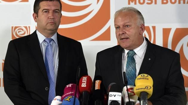 Jan Hamáček a Petr Krčál