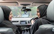 Muslimské ženy v autě, ilustrační foto