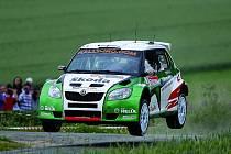 Juha Hänninen ve Škodě Fabia S2000.