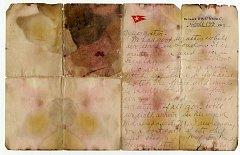 Dopis Oskara Holversona napsaný na lodi Titanik