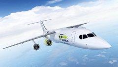 Koncept letadla na baterie. Ilustrační snímek