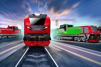 Vizualizace nového konceptu lokomotiv z CZ LOKO