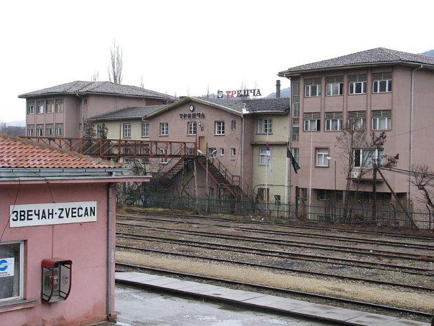 Zvečanské vlakové nádraží.