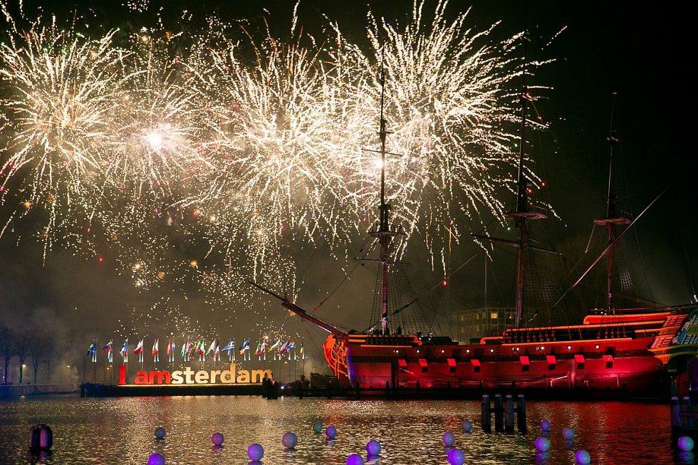 Novoroční oslavy v Amsterdamu