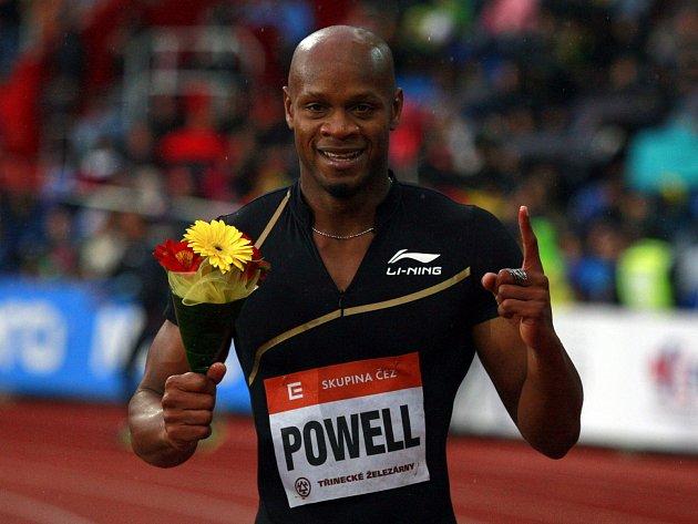Asafa Powell po triumfu na Zlaté tretře