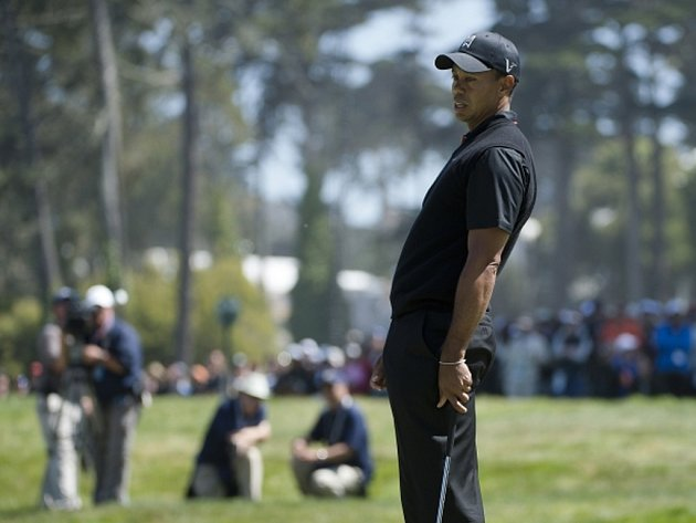 Golfista Tiger Woods na US Open.