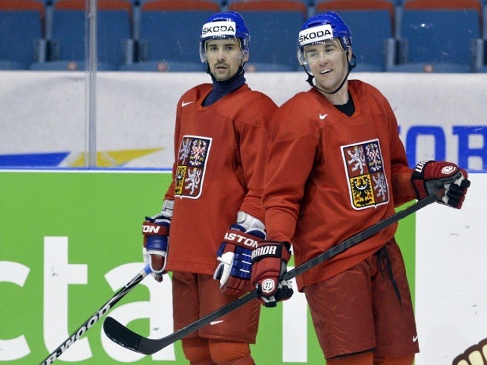 K českému týmu se už připojily dvě posily z NHL Tomáš Plekanec (vlevo) a Marek Židlický.