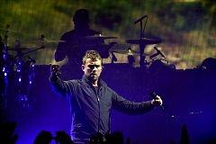 Virtuální kapela Gorillaz poprvé v Česku v pražské O2 areně v listopadu 2017.