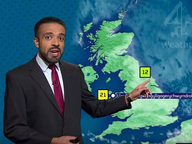 Tak neuvěřitelný jazykolam o 58 znacích, v němž většinu navíc tvoří souhlásky, vyžaduje skutečný kumšt. Moderátor britské televizní stanice to v rubrice předpovědi počasí dokázal na první pokus a bez jediné chyby.