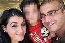Noor Salmanová s rodinou.