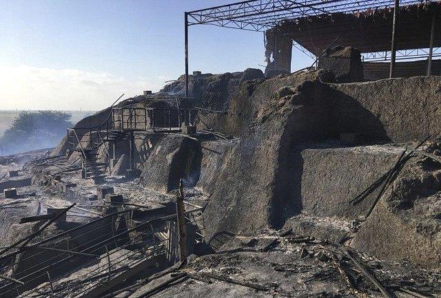 Archeologické naleziště Ventarrón v Peru po nedělním požáru