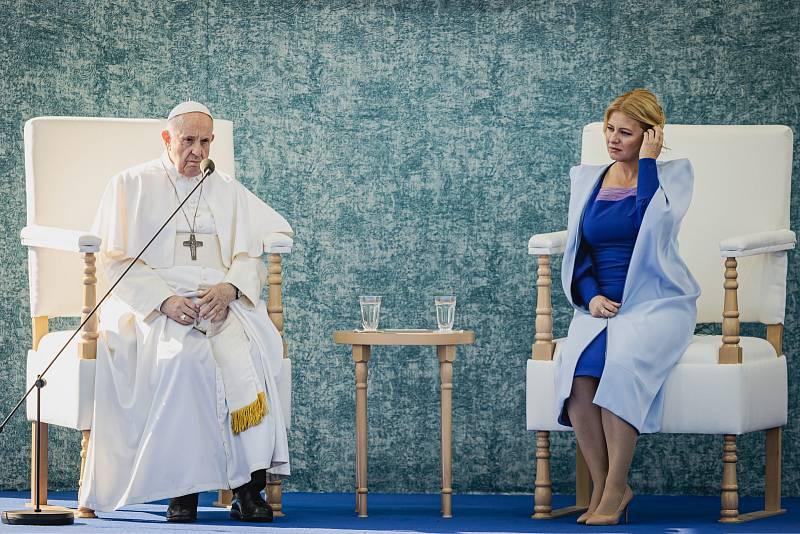Papež František při návštěvě Slovenska