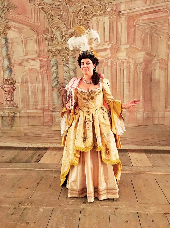 Na scéně  barokního divadla v Českém Krumlově, pro které se souborem Hof Musici letos nastudovává už čtvrtou operní inscenaci.