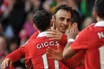 Dimitar Berbatov trefil Manchesteru United tři body.