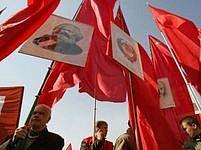 Ruští komunisté se sešli v centru Moskvy.
